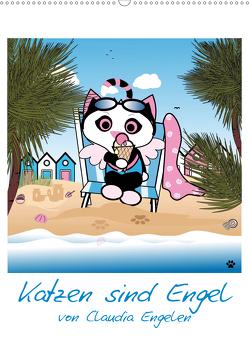 Katzen sind Engel (Wandkalender 2021 DIN A2 hoch) von Engelen,  dieKLEINERT.de/Claudia