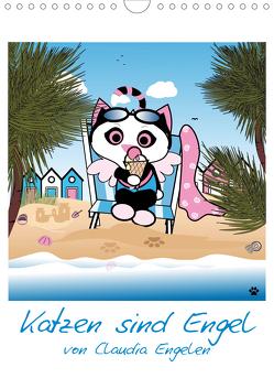 Katzen sind Engel (Wandkalender 2021 DIN A4 hoch) von Engelen,  dieKLEINERT.de/Claudia