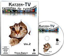 Katzen-TV – Fernsehen für Fellnasen – Vol. 2 – Der ultimative Katzenspaß! Das Geschenk für Katzen – Video für Katzen