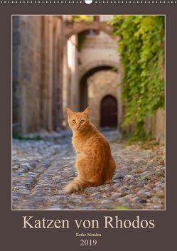 Katzen von Rhodos (Wandkalender 2019 DIN A2 hoch) von Menden,  Katho