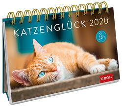 Katzenglück 2020: Postkarten-Kalender mit separatem Wochenkalendarium von Groh Redaktionsteam