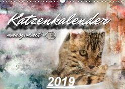 Katzenkalender mausgemalt (Wandkalender 2019 DIN A3 quer) von Banker,  Sylvio