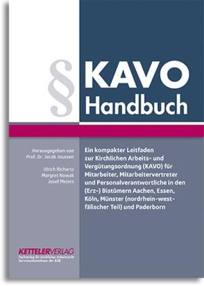 KAVO Handbuch von Joussen,  Jacob, Meiers,  Josef, Nowak,  Marget, Richartz,  Ulrich