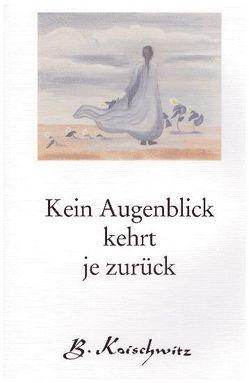 Kein Augenblick kehrt je zurück von Koischwitz,  Brigitte