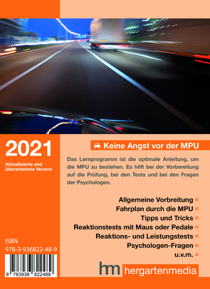 </p><b>Keine Angst vor der MPU 2021<b></p>