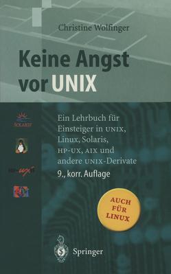 Keine Angst vor UNIX von Wolfinger,  Christine