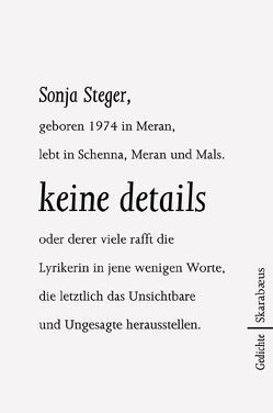 keine details von Steger,  Sonja