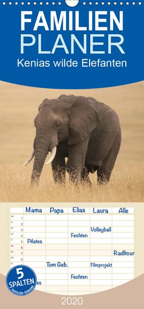 Kenias wilde Elefanten – Familienplaner hoch (Wandkalender 2020 , 21 cm x 45 cm, hoch) von Demel,  Andreas