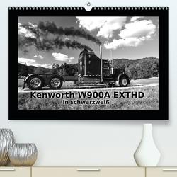 Kenworth W900A EXTHD – in schwarzweiß (Premium, hochwertiger DIN A2 Wandkalender 2021, Kunstdruck in Hochglanz) von Laue,  Ingo