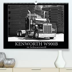 KENWORTH W900B – in Schwarzweiß (Premium, hochwertiger DIN A2 Wandkalender 2021, Kunstdruck in Hochglanz) von Laue,  Ingo