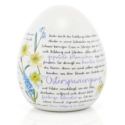 Keramik-Osterei Goethes »Osterspaziergang« von von Goethe,  Johann Wolfgang
