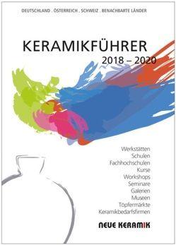 Keramikführer 2018 – 2020 von Pfannkuche,  Bernd