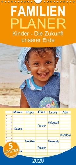 Kinder Die Zukunft unserer Erde – Familienplaner hoch (Wandkalender 2020 , 21 cm x 45 cm, hoch) von Benahmed,  Ramona