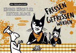 Kinder Künstler Kritzelblock – Fressen und gefressen werden von Labor Ateliergemeinschaft