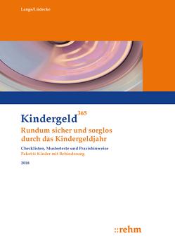 Kinder mit Behinderung 2018 von Lange,  Klaus, Lüdecke,  Reinhard
