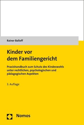 Kinder vor dem Familiengericht von Balloff,  Rainer