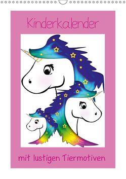 Kinderbilder mit lustigen Tiermotiven (Wandkalender 2018 DIN A3 hoch) von Digital-Art,  k.A.