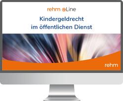 Kindergeldrecht öffentlicher Dienst online von Lange,  Klaus, Novak,  Rainer, Sander,  Theodor, Stahl,  Wolfgang, Weinhold,  Thorsten