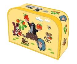 Kinderkoffer Der kleine Maulwurf Spielzeugkoffer Pappkoffer gelb medium