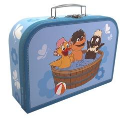 Kinderkoffer Pittiplatsch, Schnatterinchen und Moppi in der Badewanne