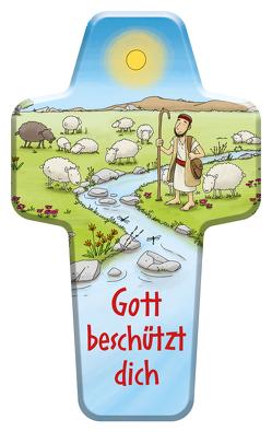 """Kinderkreuz """"Gott beschützt dich"""" von Apel,  Guido"""