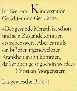 Kinderstation – Gesichter und Gespräche von Seeberg,  Ina