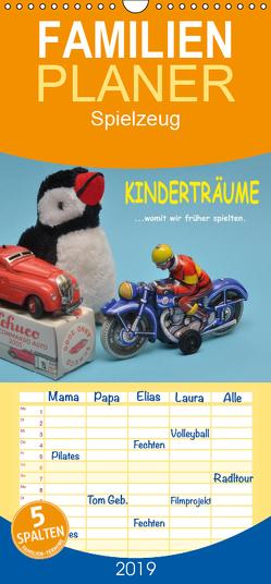 Kinderträume – Womit wir früher spielten – Familienplaner hoch (Wandkalender 2019 , 21 cm x 45 cm, hoch) von Huschka,  Klaus-Peter