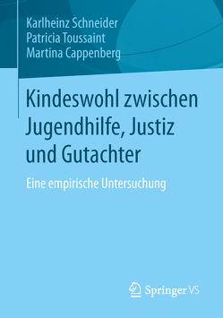Kindeswohl zwischen Jugendhilfe, Justiz und Gutachter von Cappenberg,  Martina, Schneider,  Karlheinz, Toussaint,  Patricia