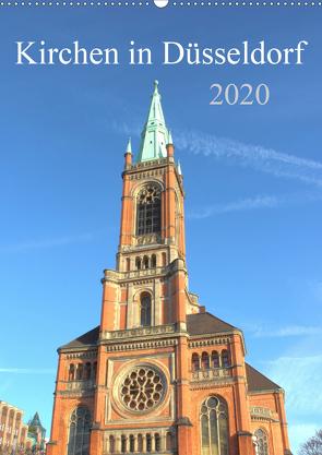 Kirchen in Düsseldorf (Wandkalender 2020 DIN A2 hoch) von pixs:sell