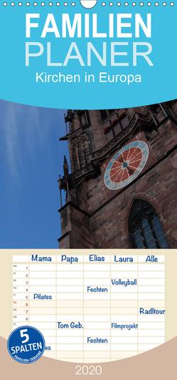 Kirchen in Europa – Familienplaner hoch (Wandkalender 2020 , 21 cm x 45 cm, hoch) von Falk,  Dietmar