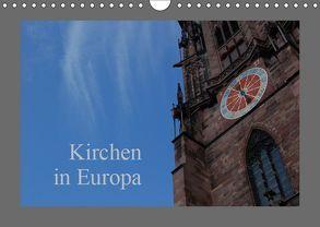 Kirchen in Europa (Wandkalender 2019 DIN A4 quer) von Falk,  Dietmar