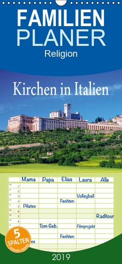 Kirchen in Italien – Familienplaner hoch (Wandkalender 2019 , 21 cm x 45 cm, hoch) von LianeM