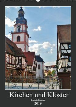 Kirchen und Klöster deutsche Kleinode (Wandkalender 2019 DIN A2 hoch) von Janke,  Andrea