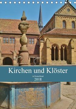 Kirchen und Klöster in Deutschland (Tischkalender 2018 DIN A5 hoch) von Janke,  Andrea