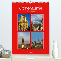 Kirchentürme in Franken (Premium, hochwertiger DIN A2 Wandkalender 2020, Kunstdruck in Hochglanz) von Will,  Hans