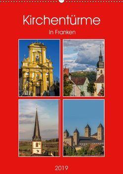 Kirchentürme in Franken (Wandkalender 2019 DIN A2 hoch) von Will,  Hans