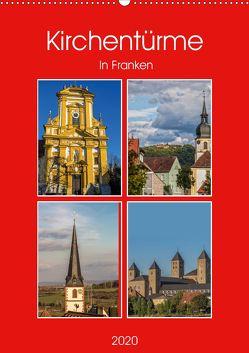 Kirchentürme in Franken (Wandkalender 2020 DIN A2 hoch) von Will,  Hans