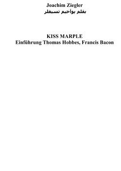 KISS MARPLE Einführung Thomas Hobbes, Francis Bacon von Ziegler,  Joachim