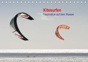 Kitesurfen – Faszination auf dem Wasser (Tischkalender 2020 DIN A5 quer) von Peitz,  Martin