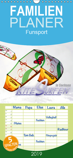 Kitesurfen in Sachsen – Familienplaner hoch (Wandkalender 2019 , 21 cm x 45 cm, hoch) von HauptstadtfotografiX