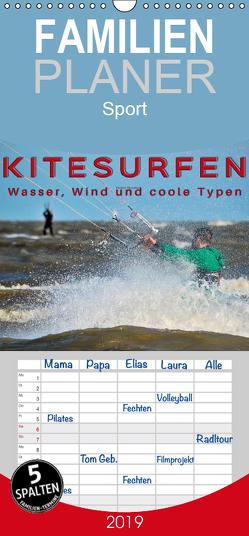 Kitesurfen – Wasser, Wind und coole Typen – Familienplaner hoch (Wandkalender 2019 , 21 cm x 45 cm, hoch) von Roder,  Peter