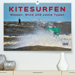 Kitesurfen – Wasser, Wind und coole Typen (Premium, hochwertiger DIN A2 Wandkalender 2020, Kunstdruck in Hochglanz) von Roder,  Peter
