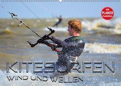 Kitesurfen – Wind und Wellen (Wandkalender 2019 DIN A2 quer) von Bleicher,  Renate