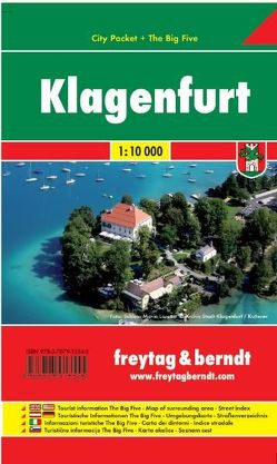 Klagenfurt, City Pocket + The Big Five, Stadtplan 1:10.000 von Freytag-Berndt und Artaria KG