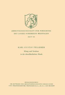 Klang und Struktur in der abendländischen Musik von Fellerer,  Karl Gustav