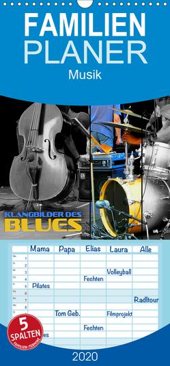 Klangbilder des Blues – Familienplaner hoch (Wandkalender 2020 , 21 cm x 45 cm, hoch) von Bleicher,  Renate