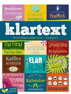 Klartext 2018 – Wochenplaner