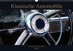 Klassische Automobile – Lenkräder und Armaturen (Wandkalender 2021 DIN A3 quer) von Gube,  Beate