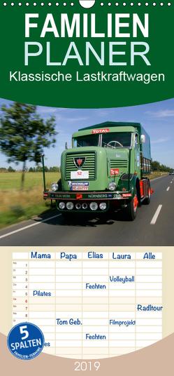 Klassische Lastkraftwagen – Familienplaner hoch (Wandkalender 2019 , 21 cm x 45 cm, hoch) von Bau,  Stefan