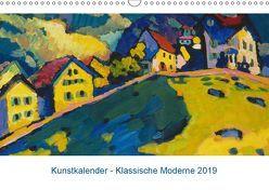 Klassische Moderne 2019 – Mit Kunst durchs Jahr (Wandkalender 2019 DIN A3 quer) von Artothek,  k.A.